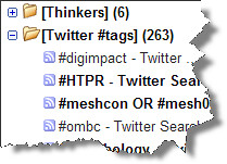 Twitter Hashtags in Google Reader