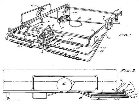 maquina para hacer tatuaje. 4- Maquina para hacer la cama (US 4441222) inventos bizarros 04