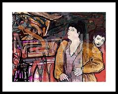 Gesto Teatral 1 (Theatrical Gesture 1) (Marvillas) Tags: lines digital photoshop painting colours colores virtual draw gesture dibujo theatrical pintura lineas teatral gesto marvilla creattivit
