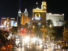 Night street view of las vegas strip