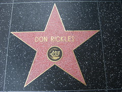 Don Rickles´ star on the Hollywood Walk of Fame