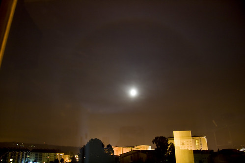 Lunar halo over Santiago