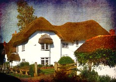 "A ""Chocolate-Box"" cottage - Longparish (por2able) Tags: hampshire textured thatchedcottage longparish whitewashedwalls t189 memoriesbook pareerica hampshirevillages"