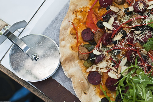 Chorizo Almond Skinny Pizza