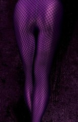 Fishnet Over Purple (AnonymousArt) Tags: fish selfportrait art net me stockings lines fetish self purple legs artistic body leg shapes surreal fishnet tights human fabric material form tight exploration nylon spandex lycra leggings skintight enclosed encasement formfitting secondskin anonymousart