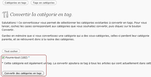 Changing categorys into tags 2