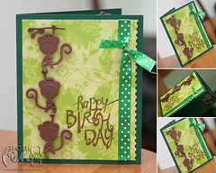 Monkey birhtday (baby card)