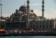 Imposing (Let Ideas Compete) Tags: travel bridge turkey minaret landmark istanbul mosque dome galata galeta touristcity muslimcountry secularcountry