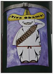 Viva Obama! 2008 (swanksalot) Tags: streetart graffiti sticker obama codo obama2008 swanksalot senorcodo sethanderson