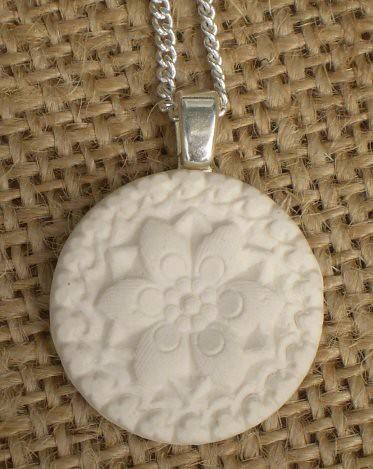 ceramic 'vintage button' pendant