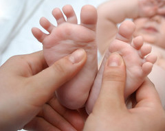 Massage of foots