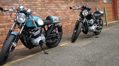 77' and 78' Cafe racers