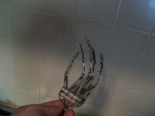hot glue hand w posable armature
