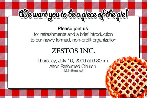 Zestos invitation by you.