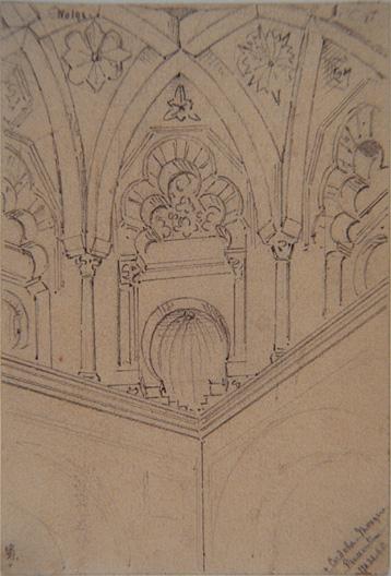 Cordoba. Mosque. Pendentive (22/03/1865)