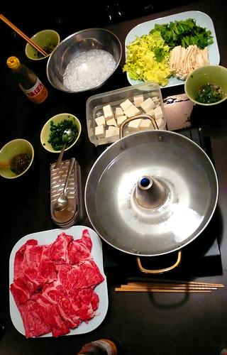 shabu shabu at joy & alex's, tokyo
