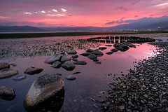 Suwa Sunset (TheJbot) Tags: sunset sky lake japan rocks colorful distillery hdr jbot suwa sigma1020mm thejbot thenewskycloudsandsun daarklands