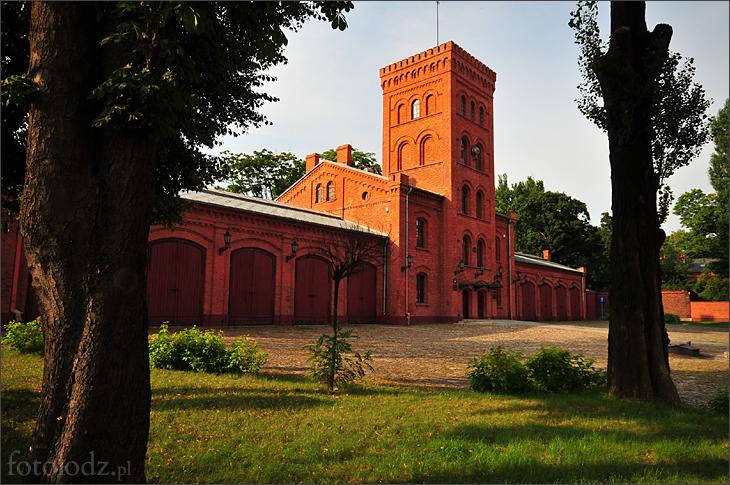 Budynek dawnej straży pożarnej na Księżym Młynie w Łodzi