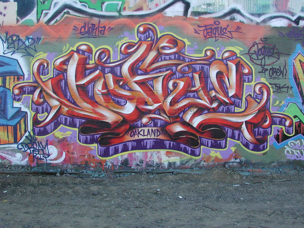 Vogue Graffiti Piece - Oakland California.