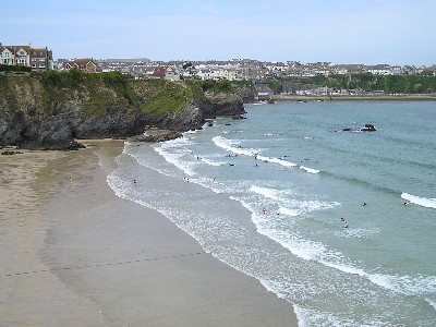 Great Western Beach, Newquay, Cornwall