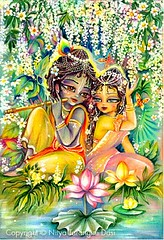 Radha  Krishna at lotus-pond - ISKCON desire tree (ISKCON Desire Tree) Tags: demon krishna radha vrndavana balaram iskcon putana devaki radharani kamsa bakasura aghasura
