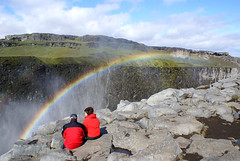 Somewhere under the Rainbow (little_frank) Tags: world above red wild people panorama woman man fall love nature water beautiful rock vertical wonderful river spectacular wonder landscape island freedom waterfall iceland islandia amazing fantastic scenery couple europe heaven paradise power view place natural horizon north dream dramatic peaceful canyon special erosion falling fantasy stunning gorge nordic geology wilderness fabulous 1001nights northern foss pure powerful breathtaking impressive vastness dettifoss islande marvellous spectacle breathless unspoiled cascata islanda irreal primordial immensity geologic jokulsa platinumphoto sland
