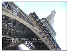 Eiffel Tower, another angle ({ahradwani.com} Hawee Ta3kees- ) Tags: t100 europe   ali 2008   tour travel tower vacation   sony sky paris france blue dsct100 eiffeltower eiffel exploreaugust09 explore09 explore2009 explored explore trip haweeta3kees  hawee   ta3kees pariswithsonyt100 paris2008 ahradwani ahradwanicom hassan