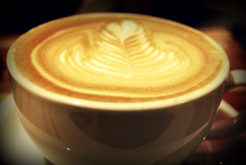 My birthday latte at Intelligentsia Venice - Fantastic! by you.
