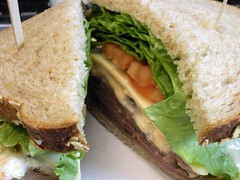 I have a new favorite sandwich at Mattin's... (mhaithaca) Tags: food lunch sandwich roastbeef thousandislanddressing multigrainbread mattins cornelldining