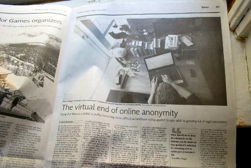 Schmutzie in the newspaper