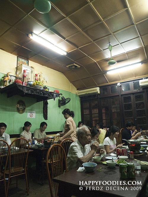 Interiors of Cha Ca La Vong