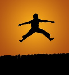 jumping into the sun (looking through your eyes) Tags: boy silhouette jump bryan diamondclassphotographer platinumheartaward lightiq