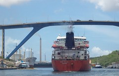 Sailing into Curacao Harbour (Robert-B) Tags: bridge ship harbour curacao willemstad julianabrug annabaai