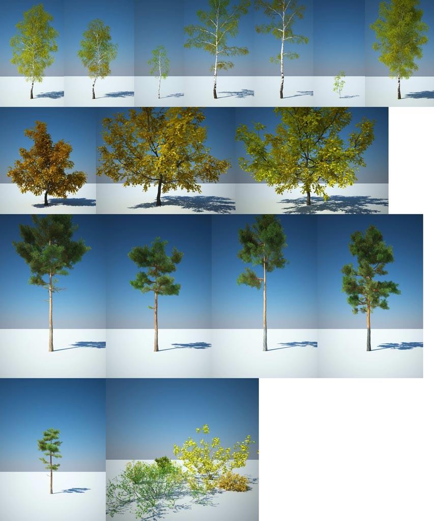 Дерево 3D Max Скачать