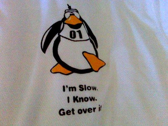 penguin running shirt