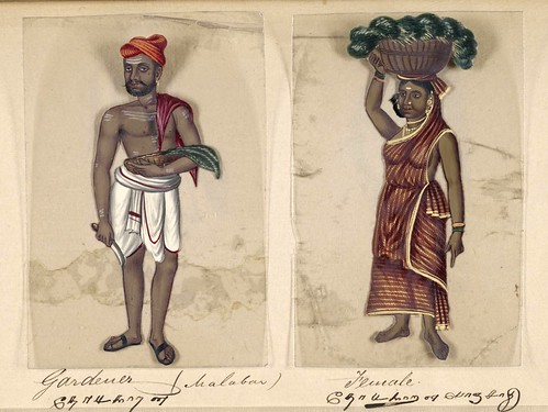 022- Hortelano hindú y su mujer-Seventy two specimens of castes in India 1837