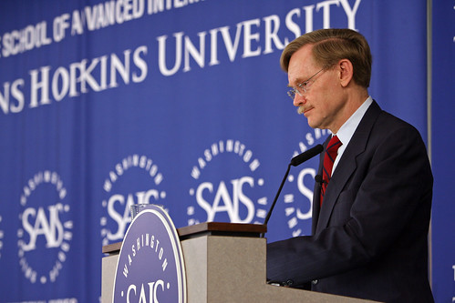 President Zoellick addresses the audience at SAIS
