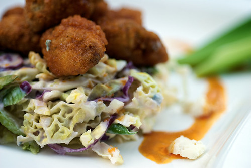 Buffalo Sweetbreads with Blue Cheese Slaw