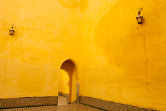 Morocco-090604-352 (Kelly Cheng) Tags: africa travel colour horizontal architecture design daylight arch outdoor mosaic muslim religion tomb culture vivid nopeople courtyard unesco morocco mausoleum copyspace meknes zellij mausoleumofmoulayismail pickbykc