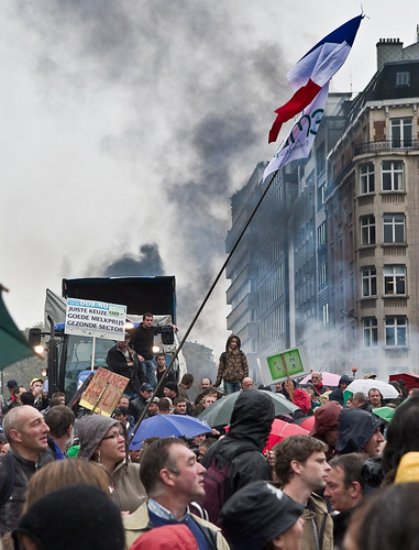 austerity protests sweep across europe