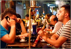 Enjoying a shisha (şişe) in Ramadan