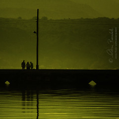7 a.m. meeting () Tags: morning bridge light people reflection andy water reunion sunrise early fishermen alba andrea telephone group andrew pole ponte persone greece grecia trio acqua telefono palo kefalonia luce riunione gruppo riflesso mattino presto argostoli pescatori benedetti cefalonia