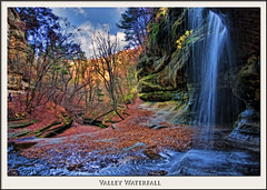 Valley Waterfall (hdrshooter) Tags: digitalpainting photopainting starvedrockstatepark illinoisstatepark omot topazadjust topazsimplify