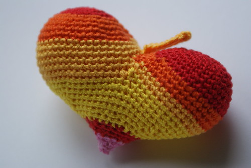 Crochet autumn heart
