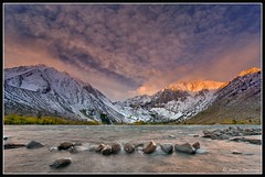 Clearing storm over Convict Lake (The Man in Red) Tags: cloudscapes altocumulus easternsierra convictlake clearingstorm beautyofwater themaninred downslopewinds