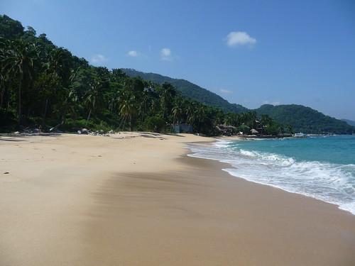 Secluded beach near Puerto Vallarta