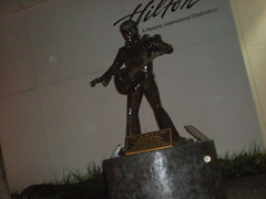Statue of Elvis Presley at Las Vegas Hilton