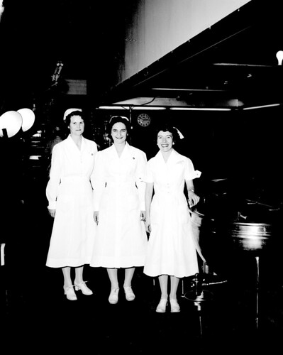Nurses at Veterans Hospital, 1951