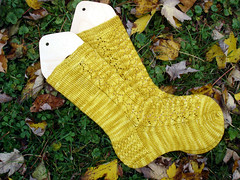 Nancy Bush SKA Mystery Socks, Finished