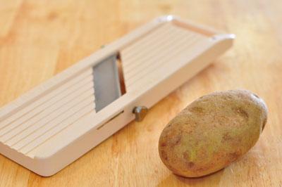 potato and slicer for potato chips